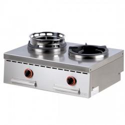 Aragaz de banc cu 2 ochiuri, pentru wok 26 kW