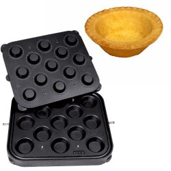 Placa aparat tarte, 13 forme rotunde 70 mm