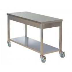Masa de lucru inox, mobila cu polita inferioara 1400x600 mm