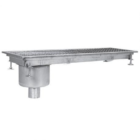 Sifon scurgere pardoseala industrial, cu gura de scurgere laterala-verticala, 400x2300 mm