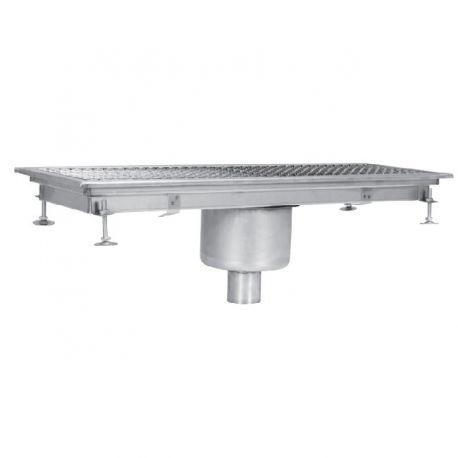 Sifon scurgere pardoseala industrial, cu gura de scurgere centrala-verticala, 300x1650 mm