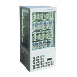 Vitrina frigorifica ventilata, de banc cu 3 rafturi