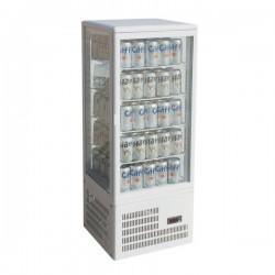 Vitrina frigorifica ventilata, de banc cu 4 rafturi