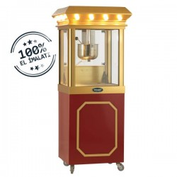 Aparat/ Masina popcorn cu 4 roti mici, 600x500x1750 mm