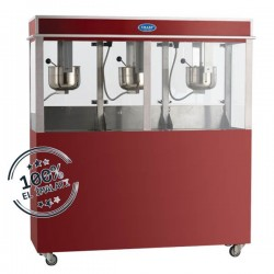 Aparat/ Masina popcorn tripla cu orificiu si dulap depozitare, 1000x550x1650 mm