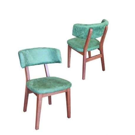 Scaun din lemn cu spatar tapitat