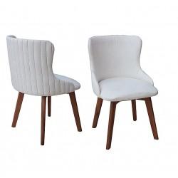 Scaun din lemn total tapitat