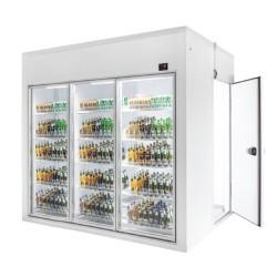 Camera frigorifica cu vitrina 3 usi si spatiu depozitare walk-in/ 5,5 m³