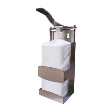 Dispenser perete pentru dezinfectant din inox