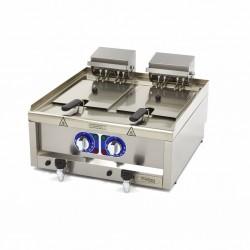Friteuza electrica de banc, 2 x 10 litri, 60 x 60 cu robinet de scurgere