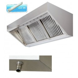 Hota de perete iluminata, 1250x1100x500 mm